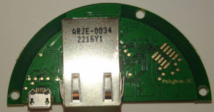 Ethernet jack side of board
